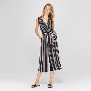 NEW Spenser Jeremy Women's Striped Ruffle Jumpsuit